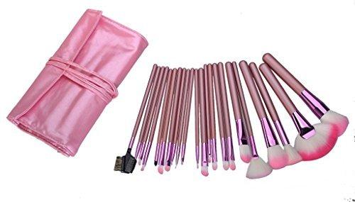 Contever® Kit de Pinceau maquillage Professionnel 22PCS Eyebrow Shadow Blush Fond de teint Anti-cerne Kit Pinceaux Avec Rose sac