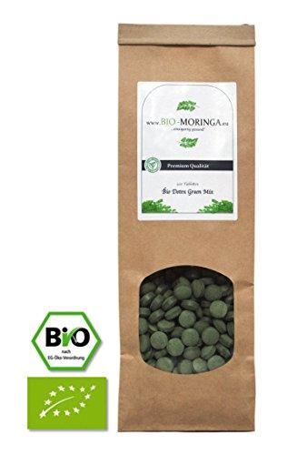 Bio Superfood Mix (DETOX) Vegan - 300 Stück a´500mg (Tabletten / Kapseln) Moringa, Chlorella, Spirulina, Gerstengras - Rohkost