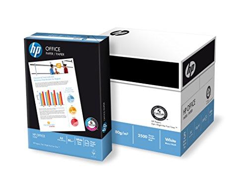 HP Papier Office A4 80g/qm 5x500 Blatt (1 Karton x 5 Pakete) (Hewlett Packard Hp 500 Blatt)
