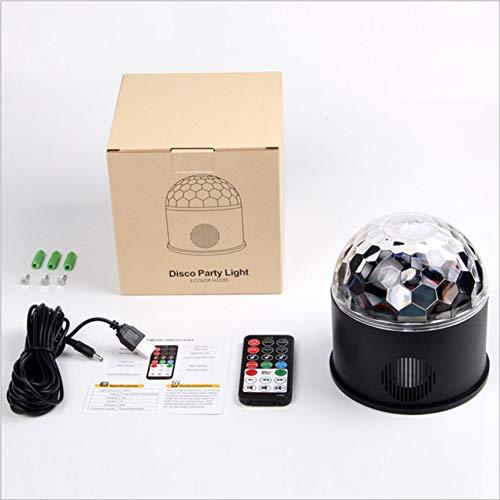 Lautsprecher LED Farbe Bühnenbeleuchtung Glas drehbar magische Kugel Licht aktiviert durch Sound ()
