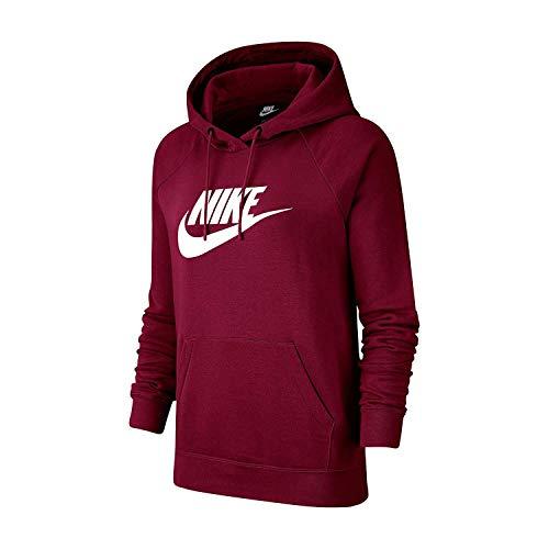 Nike Damen W NSW ESSNTL Hoodie PO HBR Sweatshirt, Team red/White, XS