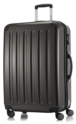 HAUPTSTADTKOFFER - Alex - 3er Koffer-Set Trolley-Set Rollkoffer Reisekoffer Erweiterbar, TSA, Doppelrollen, (S, M & L), Graphit - 5