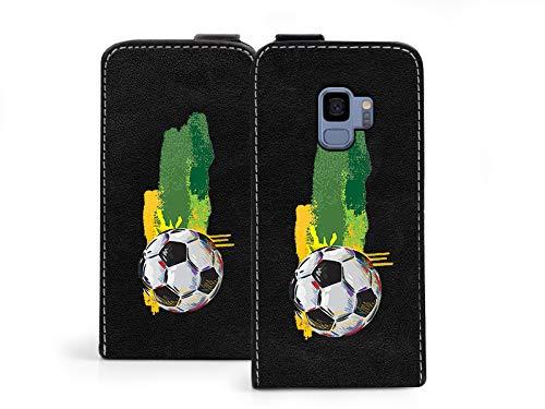 etuo Samsung Galaxy S9 - Hülle Flip Fantastic - Football - Handyhülle Schutzhülle Etui Case Cover Tasche für Handy