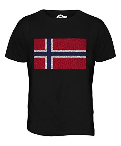 CandyMix Norwegen Kritzelte Flagge Herren T Shirt Schwarz