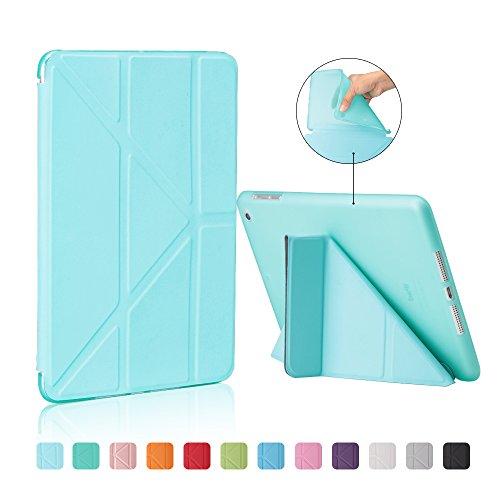 MiusiCase iPad Mini 1 2 3 Hülle-Ultra Dünn Smart Cover und TPU Rückseite Abdeckung Case mit Automatischem Schlaf Funktion/Standfunktion für Apple iPad Mini 1/Mini 2/Mini 3 Generation-Tiffany Blue (Case Mini Tiffany 3 Ipad)