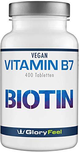Biotin Hochdosiert 10.000 mcg - 400 vegane Tabletten für mehr als 1 Jahr Haut Haare & Nägel-Kur - Maximale Dosierung - Laborgeprüft und Hergestellt in Deutschland