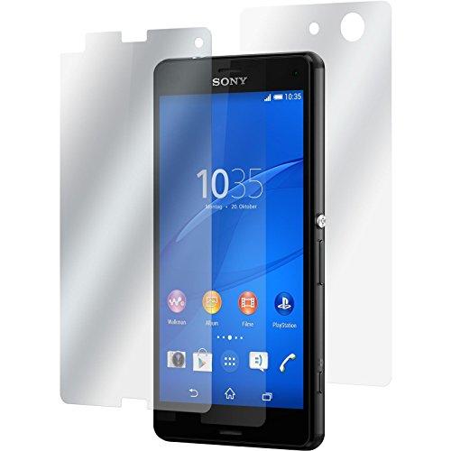 PhoneNatic 2er-Pack Bildschirmschutzfolien klar Fullbody kompatibel mit Sony Xperia Z3 Compact