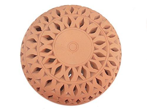 Orientalische Wandlampe Lampe Laterne für Innenraum und Garten aus Terracotta 37x13 cm - 905811-0007