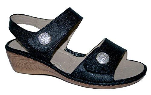 Cushion Walk Damen Peep-Toe, Violett - Schwarz (mit Knopf) - Größe: 40 (Walk Damen-cushion)