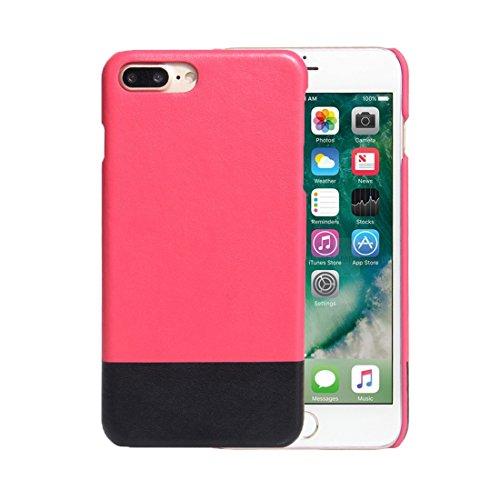 Chenjuan custodia in pelle bicolore pc + pu fashion color per iphone 7 plus. cover posteriore all-inclusive (sku : ip7p5572m)