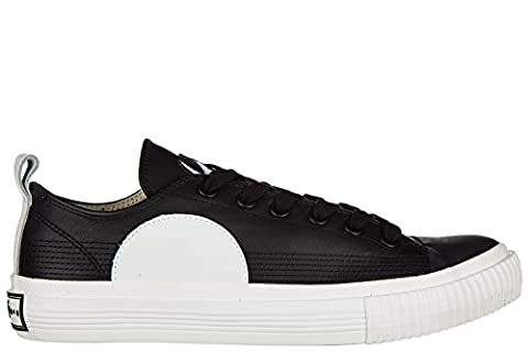 MCQ Alexander McQueen chaussures baskets sneakers homme en cuir Plimsoll Low Top swallow noir EU 41