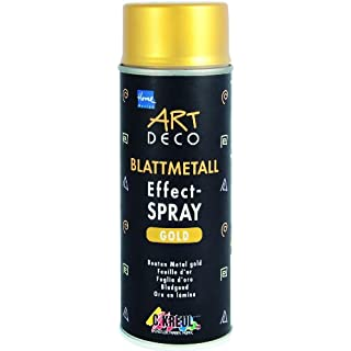 KREUL 994400 Art Deco Blattmetall Effect-Spray, 400 ml, gold