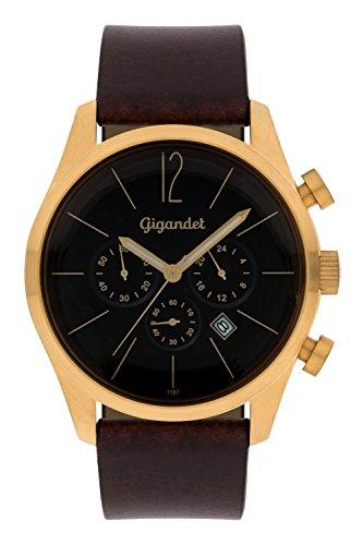 Gigandet G13–003–Orologio da uomo, cinturino in pelle, colore marrone