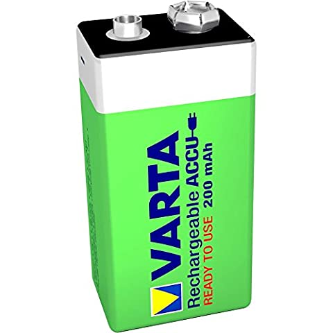 Varta - Pile 9V rechargeable Accu Ready2Use (200mAh)