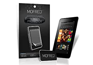 """MOFRED® 6 Pack Screen Protector Value Pack For Kindle Fire HD 7"""" (Previous Generation Model) with Cleaning Cloth And Application Card"""