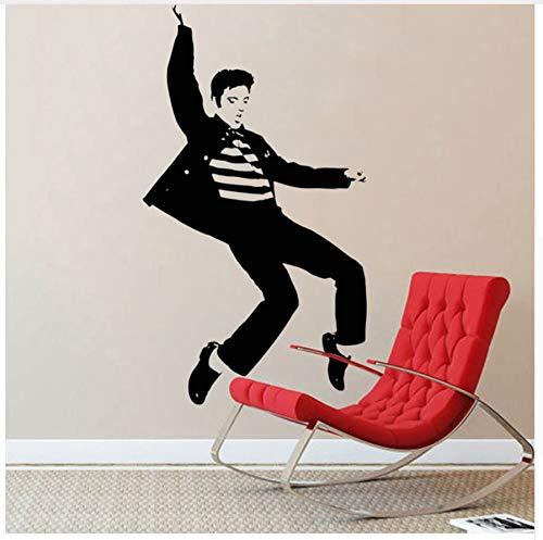 HAJKSDS Wandtattoos Wandbilder Elvis Presley Spielen Gitarre Wandaufkleber Home Decor Wohnzimmer Rockmusik Tapeten Vinyl Geschenke -