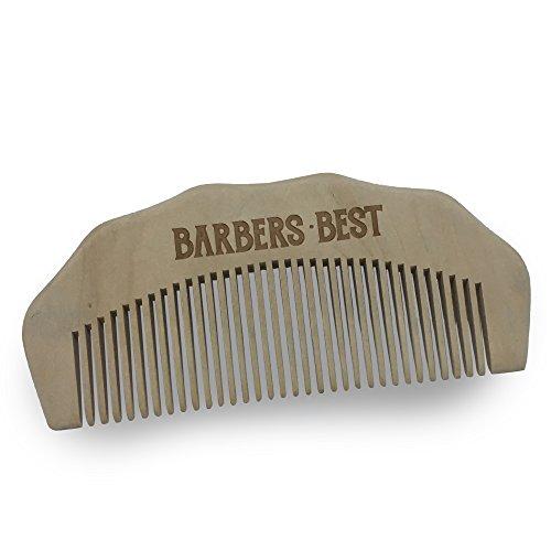BARBERS-BEST - Bartkamm Holz - Bartpflege Männer Birnenholz Taschenkamm