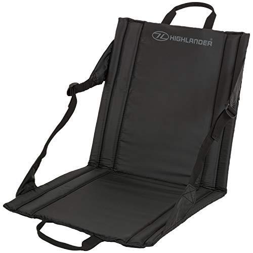 HIGHLANDER Faltbare Outdoor-Sitzmatte Leichte (Schwarz)