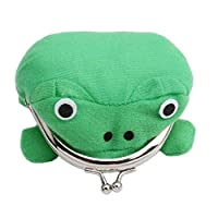TOSSPER Cute Green Frog Coin Bag Wallet Purse Cosplay Anime Plush Toy Funny