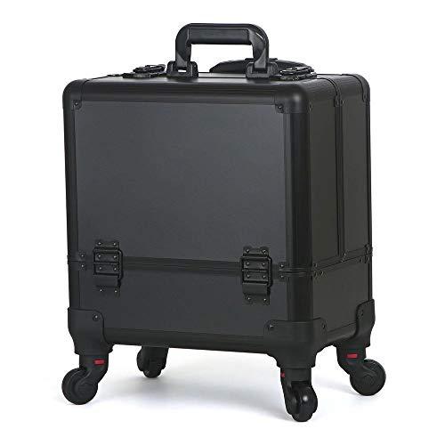 Kosmetikkoffer, professioneller Make-up Koffer, Schminkkoffer für Reisen, großer Trolley für Friseure, mit Universal-Rollen -