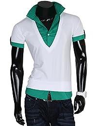Tazzio t-shirt pour homme avec t-shirt manches longues pour homme polo nouveau étiquette