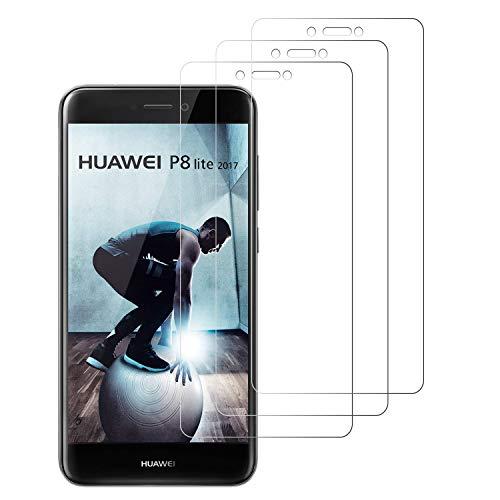 Loyiigo [3 Unidades Protector de Pantalla para Huawei P8 Lite 2017, 9H Dureza - Alta Transparencia - 2.5d Bord, Cristal Templado P8 Lite 2017