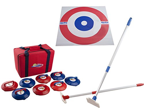 Indoor Curling Set - Stones, Mat and Pushers