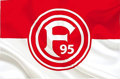 fortuna duesseldorf aufkleber Flaggenfritze Hissflagge Fortuna Düsseldorf Basic - 100 x 150 cm + gratis Aufkleber