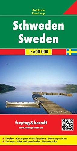 Svezia 1:600.000: Wegenkaart 1:600 000 (Auto karte) por Freytag & Berndt