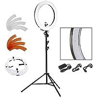 """Neewer® Kamera Foto SMD LED-Ringlicht-Kit für Video, Porträt und Fotografie Beleuchtung, Enthält (1) 18 """"/ 48cm 240 Stk. LED SMD dimmbare Ring Video Licht + (1) 9 Ft / 260cm Aluminiumlegierung Licht Stand"""