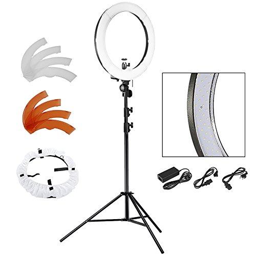 Neewer® Kamera Foto SMD LED-Ringlicht-Kit für Video, Porträt und Fotografie Beleuchtung, Enthält (1) 18