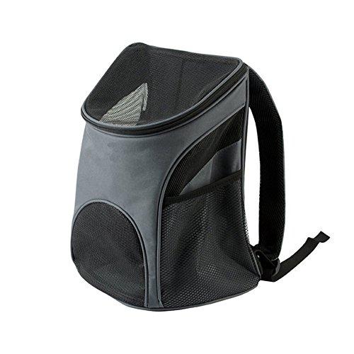 Mochila para transportistas de mascotas con correa de hombro ajustable, bolsa de malla suave para gatos, perros pequeños, tamaño grande: 12.59 x 11.02 x 17.32 ''