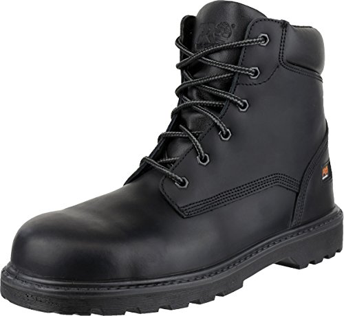 Timberland Mens PRO Hero Lace Up Full Grain Leather Safety Ankle Boot Black