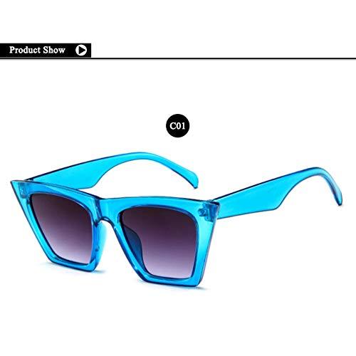 SKCLBOOS Sonnenbrillen Klassische Sonnenbrille Shades cat Eye Frauen Sonnenbrille Retro 90 s 80 s Sonnenbrille Mann Vintage 70 s weibliche Brillen uv400