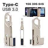 SETAYO 32GB USB-C auf USB 3.0 Flash Drive 2 in 1 OTG Flash Laufwerk USB 3.1 Type C und USB 3.0 Speicherstick für MacBook Pro, Samsung Chromebook Plus, Nexus 6P 5X, Google Pixel, LG G5, HTC 10 und mehr (Stil D)