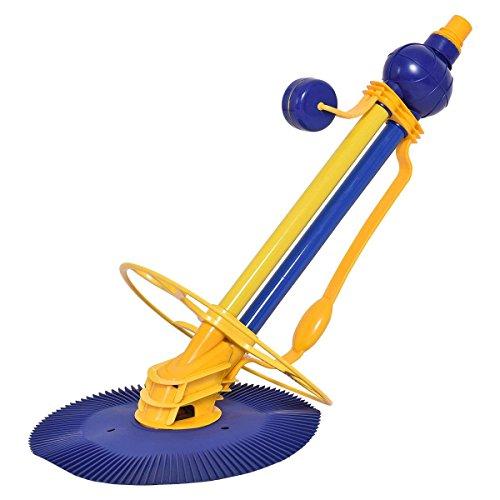 COSTWAY Automático Piscina Limpiador Vacío de Piscina Aspirador Limpieza de Suelos de Piscinas Pool Cleaner con Tubo