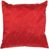 Soleil d'ocre 547718 Fiesta Coussin Polyester Rouge 40 x 40 cm