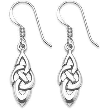 Kirstie Celtic Knot Silver Drop Earrings