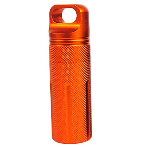 Wonque Wasserdichter Kapselbehälter, Verschluss Flasche für Tabletten, Süßigkeiten, Geld, Akku, Kopfhörer und andere kleine Objekte, 1 Stück