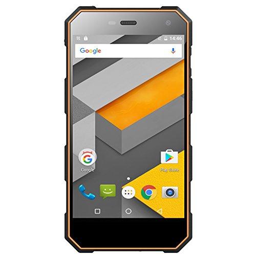 Outdoor Smartphone Wasserdichter Robuster,Android 6.0 4G LTE Doppelsim 2G RAM 16G Nomu S10 (Orange)