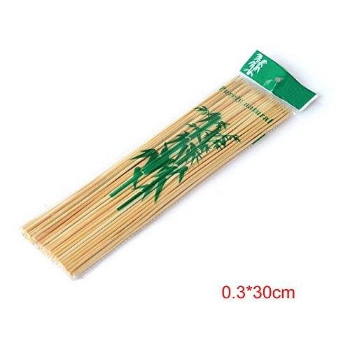 GEZICHTA Boxen mit 90Stück/Pack Bambus Grillspieße Grill Shish Kebab Holz Sticks Grill Kochen Tools, 03*30 cm (Smores-box)