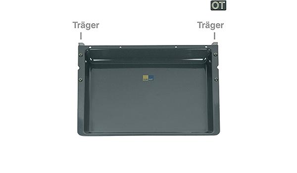 Backblech 428x375mm 40mm hoch emailliert OT 00437876 mit Träger