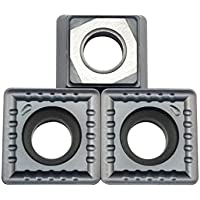 ZIMI 10 piezas SPMG090408-PM ZM2125 Carburo U-taladro insertos se pueden indexar CNC U-taladro insertos adecuados para SP tipo U taladro
