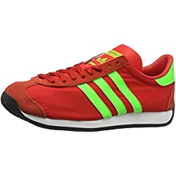 adidas Country Og, Zapatillas Unisex Adulto, Rojo (Red/Solar Green/Vintage White S15-St), 42 2/3 EU