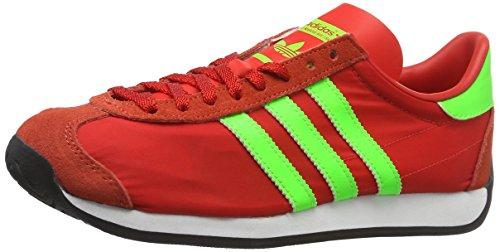 adidas Herren Country Og Trainingsschuhe Rot (Red/Solar Green/Vintage White S15-St)