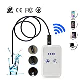 THINKMIC Endoscopio, Telecamera di Ispezione Wireless WiFi 2.0 Megapixel 1280P HD Boroscopio con 6 luci LED, IP67 Impermeabile Semi-Rigido Cavo per Android e iOS, Tablet, Mac, Windows-1M