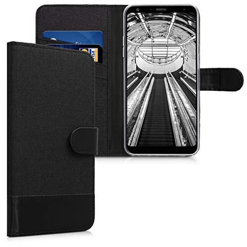 kwmobile LG Q Stylus Hülle - Kunstleder Wallet Case für LG Q Stylus mit Kartenfächern und Stand