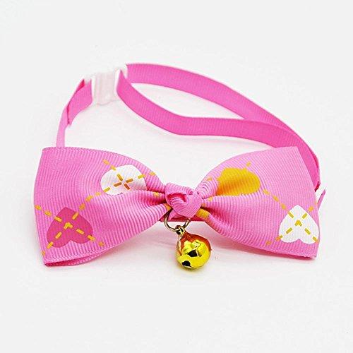 WINNERUS Candy Farben Hund Cute Fashion Puppy Katze Kätzchen Haustier Spielzeug Fliege Multicolor Pet Krawatte Cool Verstellbar Krawatte Exquisite ()