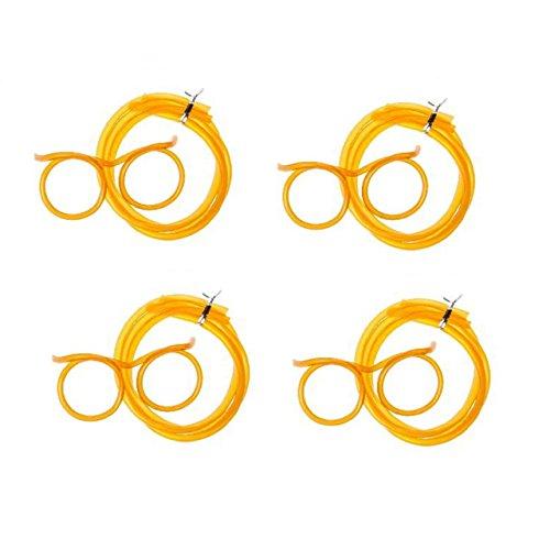 Lg-Imports 4x Trinkbrille Strohalm Brille Trinkschlauch Mitgebsel JGA Party Feier orange