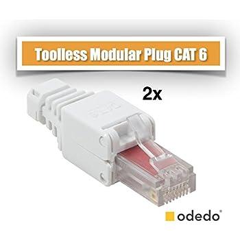 odedo® Cat.6A RJ45 Crimp Stecker: Amazon.de: Computer & Zubehör